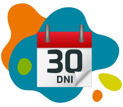 Kartka z kalendarza na której jest napisane: 30 dni.