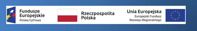 Logotypy Fundusze Europejski Reczpospolista Polska Unia Europejska z gradientem
